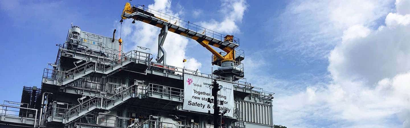 Offshore cranes and gangways